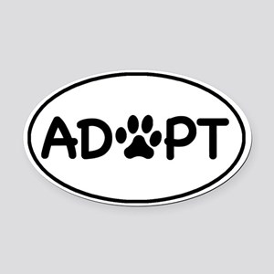 Adopt White Oval Oval Car Magnet