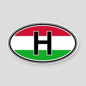 Hungary Euro Oval Car Magnet