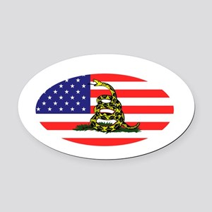 Sons-of-Liberty-(oval-flag)-dark-s Oval Car Magnet
