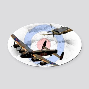 Spitfire and Lancaster Oval Car Magnet