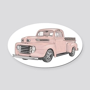 1950 Ford F1 Oval Car Magnet