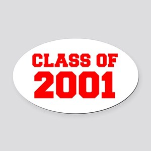 CLASS OF 2001-Fre red 300 Oval Car Magnet