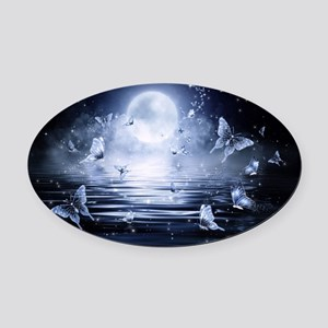 Butterfly Fantasy Oval Car Magnet