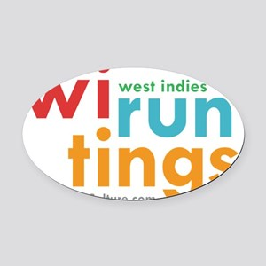 wi run tings Oval Car Magnet