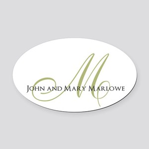 Names and Monogrammed Initial Oval Car Magnet