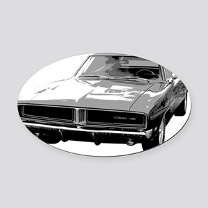 1969 Charger Oval Car Magnet