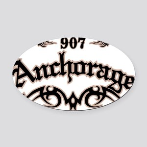 Anchorage 907 Oval Car Magnet