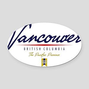 Vancouver Script W Oval Car Magnet