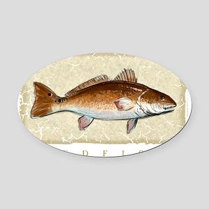 Redfish Oval Car Magnet