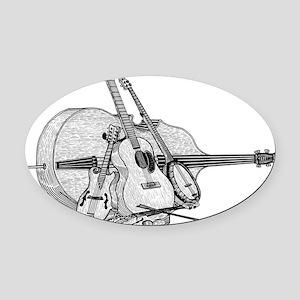 Bluegrass-2 Oval Car Magnet