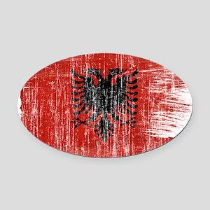 Albania Flag Oval Car Magnet