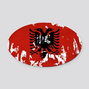 Albania textured splatter copy Oval Car Magnet
