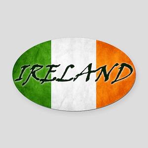 irish_flag_banner_4w Oval Car Magnet