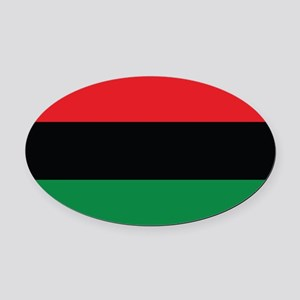 The Red, Black and Green Flag Oval Car Magnet