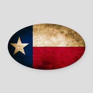 Vintage Flag of Texas Oval Car Magnet
