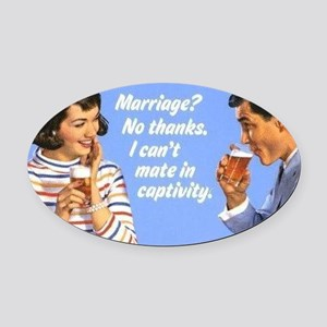 Marriage? Oval Car Magnet