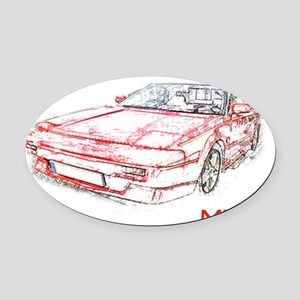 redmr2 Oval Car Magnet