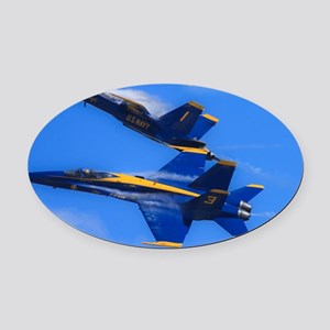 Blues_0142.23x35.final Oval Car Magnet