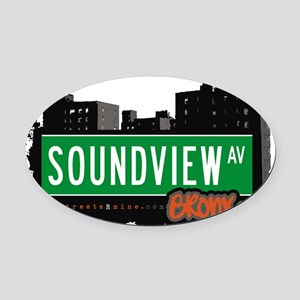 Soundview Ave Oval Car Magnet