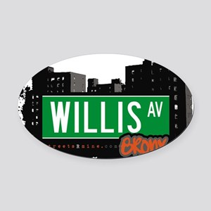 Willis Ave Oval Car Magnet