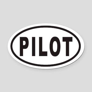PILOT Euro Oval Car Magnet