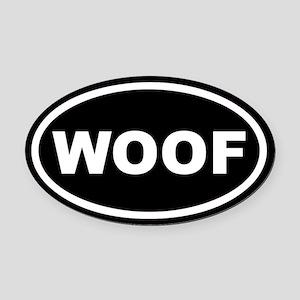 WOOF Black Euro Oval Car Magnet
