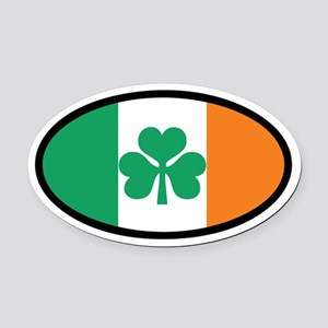Irish Flag Oval Car Magnet (Euro)