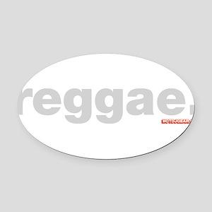 Reggae Oval Car Magnet