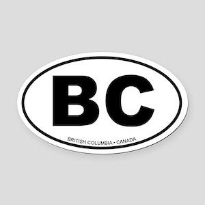 British Columbia Oval Car Magnet