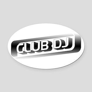 Club DJ Oval Car Magnet