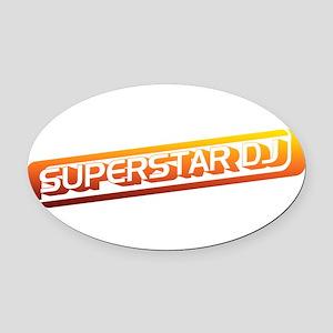 Superstar DJ Oval Car Magnet