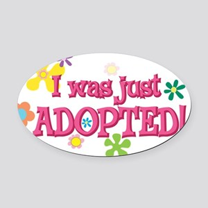 JUSTADOPTED44 Oval Car Magnet