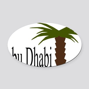I love Abu Dhabi, amazing city! Oval Car Magnet