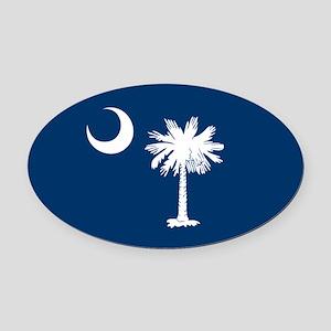 SC Palmetto Moon Oval Car Magnet