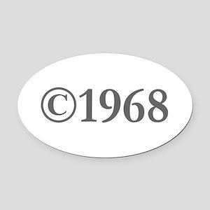 Copyright 1968-Gar gray Oval Car Magnet
