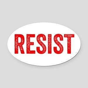 Resist Hashtag Anti Donald Trump Oval Car Magnet