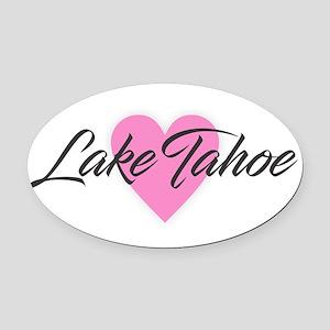 I Heart Lake Tahoe Oval Car Magnet