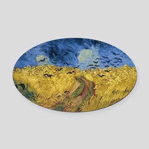 Vincent van Gogh - Wheatfield with Oval Car Magnet