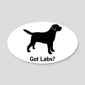 Got Labs? Silhouette Oval Car Magnet