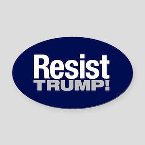 Resist Oval Car Magnet