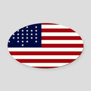 The Union Civil War Oval Car Magnet