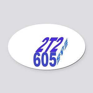 2tt2/605 cube Oval Car Magnet