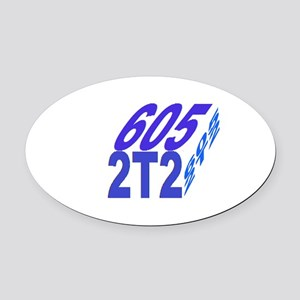605/2t2 cube Oval Car Magnet