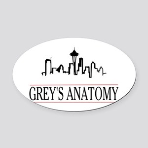Grey's anatomy-skyline Oval Car Magnet