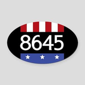 8645 Oval Car Magnet