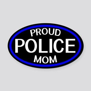 Police: Proud Mom (The Thin Blue L Oval Car Magnet