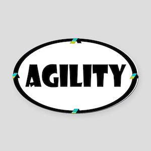 Agility Oval Car Magnet