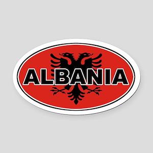 Alabanian Oval Flag Oval Car Magnet