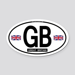 GB Oval Car Magnet (Proper)