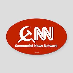 CNN - Commie News Network Oval Car Magnet